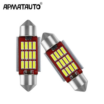 2pcs c5w Dome Festoon 36mm 3014SMD Bright White LED License Plate Light For BMW E46 E90 E92 E39 E53 E60 E71 Mini Cooper image