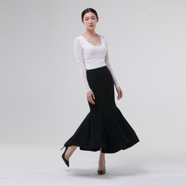 9448a943c42 2015 Woman Customize Plus Size High Waist Black Sexy Evening Skirts Mermaid Maxi  Long Fishtail midi Skirt Jupe Longue