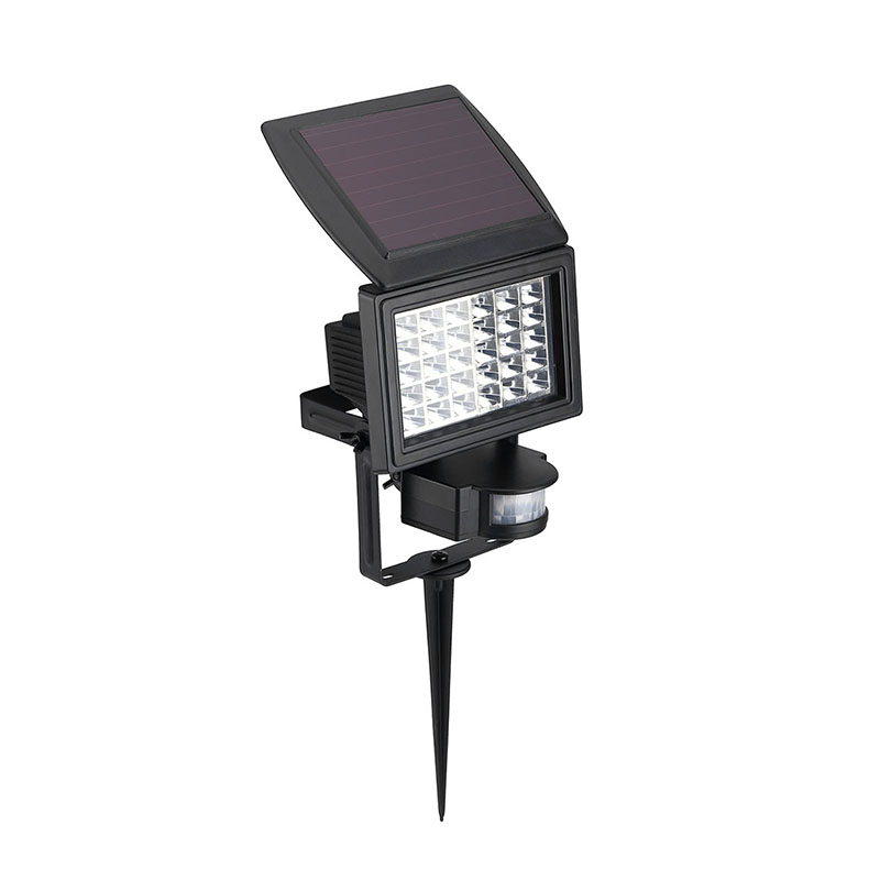 Multifunction PIR Motion Sensor LED Floodlight with Ground Spike Solar  Powered Door Path Lawn Lamp Garden