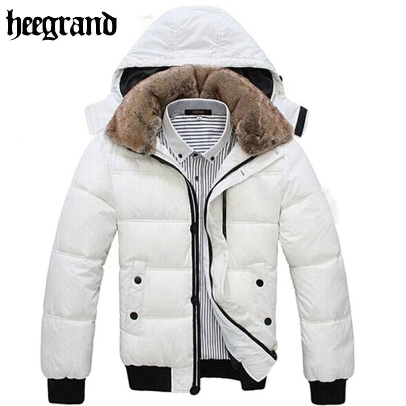 756a5ebe24e HEE GRAND Thick Warm Men Winter Coat 2018 Hot Fashion Jacket Men Parka  Leisure Wear High Quality Plus Size Black White MWM001