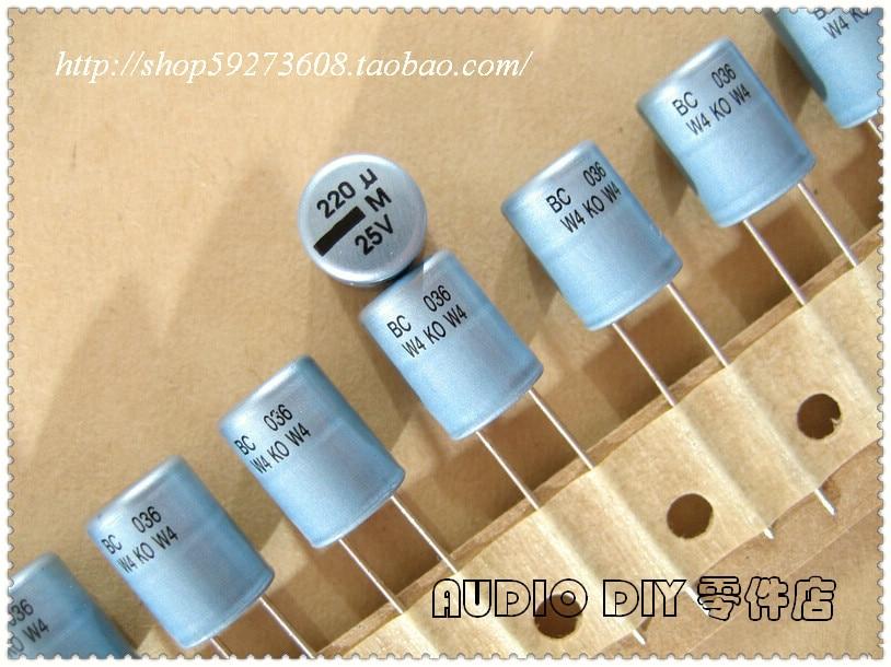 VISHAY BC 036 220uF 25V Aluminum Electrolytic Capacitors - HIFI DIY Capacitor Stores store