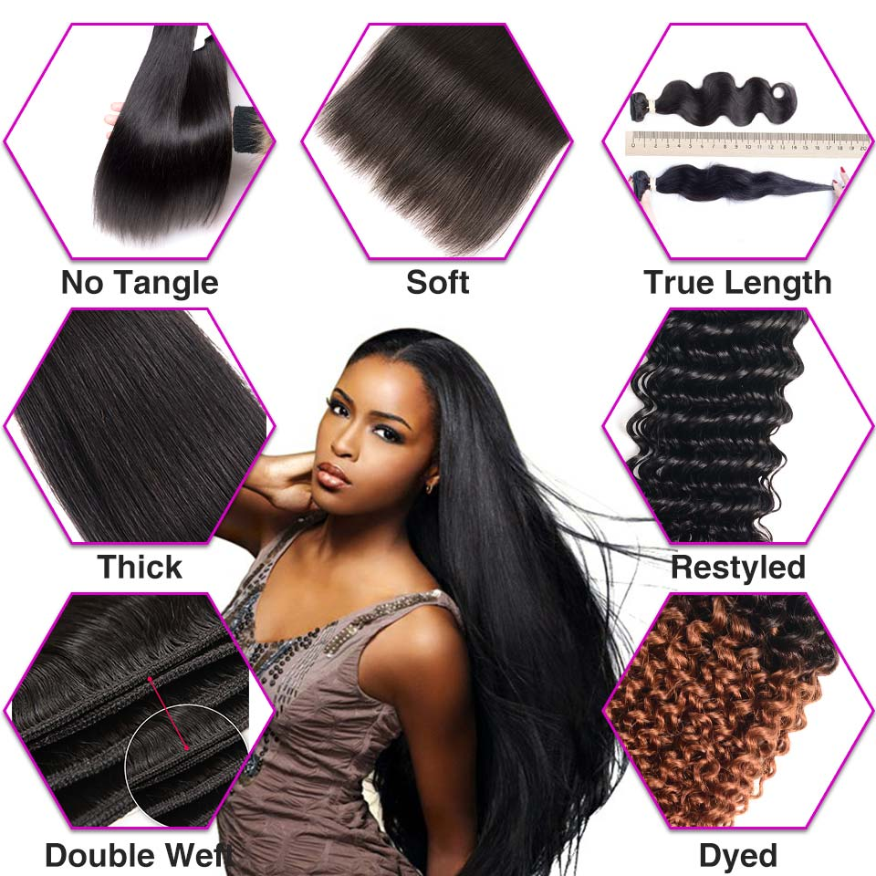 Long Length 28 Inch 30 32 40 50 Inch Brazilian Straight Hair Weave