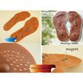 2Pairs Men/Women Foot Care Massage Insoles Magnetic Shoe Insoles Therapy Massage Insoles Health Product Comfort Pads