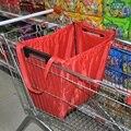 Agarra la Bolsa reutilizable de Compras de Comestibles Bolsa Aislante Bolsa de Supermercado Plegable Bolsa de Almacenamiento de Carro de Gran Capacidad Puede Almacenar Hasta 40 Libras