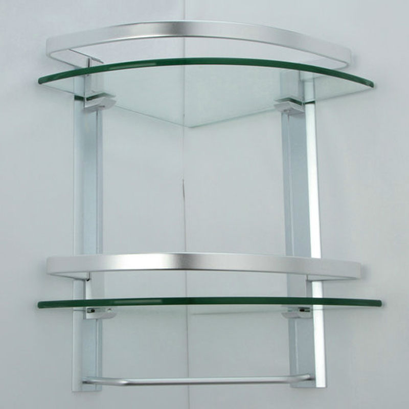 Glass Corner Shelf Bathroom My Web Value