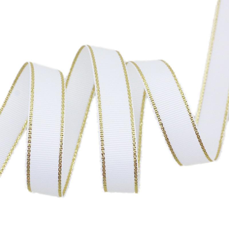 (10 ярдов/партия) золотые окантованная корсажная лента оптовая продажа подарочная упаковка рождественские ленты