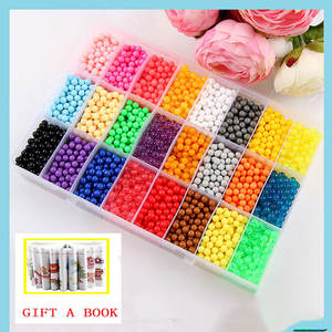 Beads Puzzle Ball-Games Magic-Toys Water-Spray-Beads-Set Crystal Children 24-Colors 6000pcs