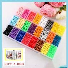Juego de 6000 cuentas de cristal en 24 colores para niños, Conjunto de bolas de cristal de colores para manualidades, DIY
