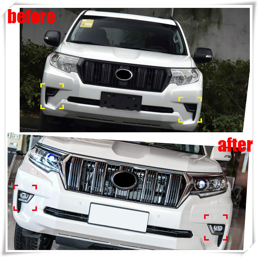 For Toyota Prado FJ150 2018 Refit to High equipped Car Front Fog Lamp Light accessories car styling