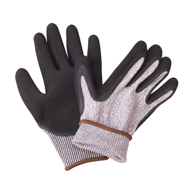 Image 2 - Construction Gloves GMG Grey Anti cut HPPE Shell Black Latex Sandy Coating Safety Work Gloves Cut Resistance Work Glove-in Safety Gloves from Security & Protection
