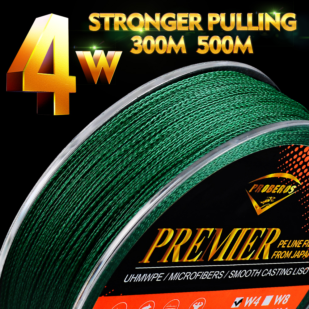 4 Strands PE Braided Fishing Line 300M 500M 6-100LB Japan 4 Weaves Brads Wire Multifilament Super Strong PE Line for Saltwater