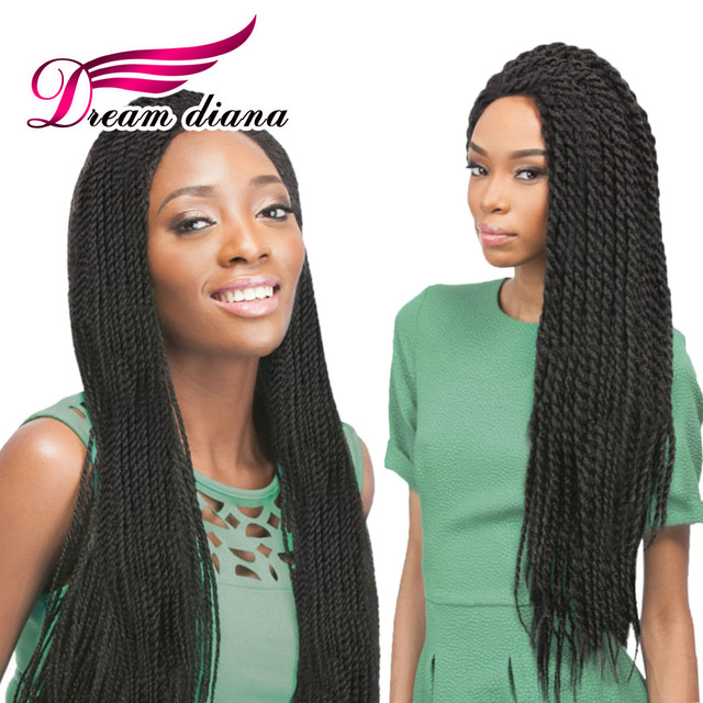 18 Inches Caribbean Twist Crochet Braids 30 Strands Medium Synthetic Kanekalon Hair For