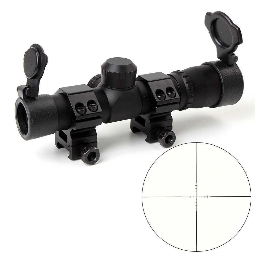 Taktische Ohhunt 4,5x20 1 zoll Kompakte Jagd Zielfernrohr Optical Sight P4 Absehen Zielfernrohr Mit Flip-öffnen Objektivdeckel