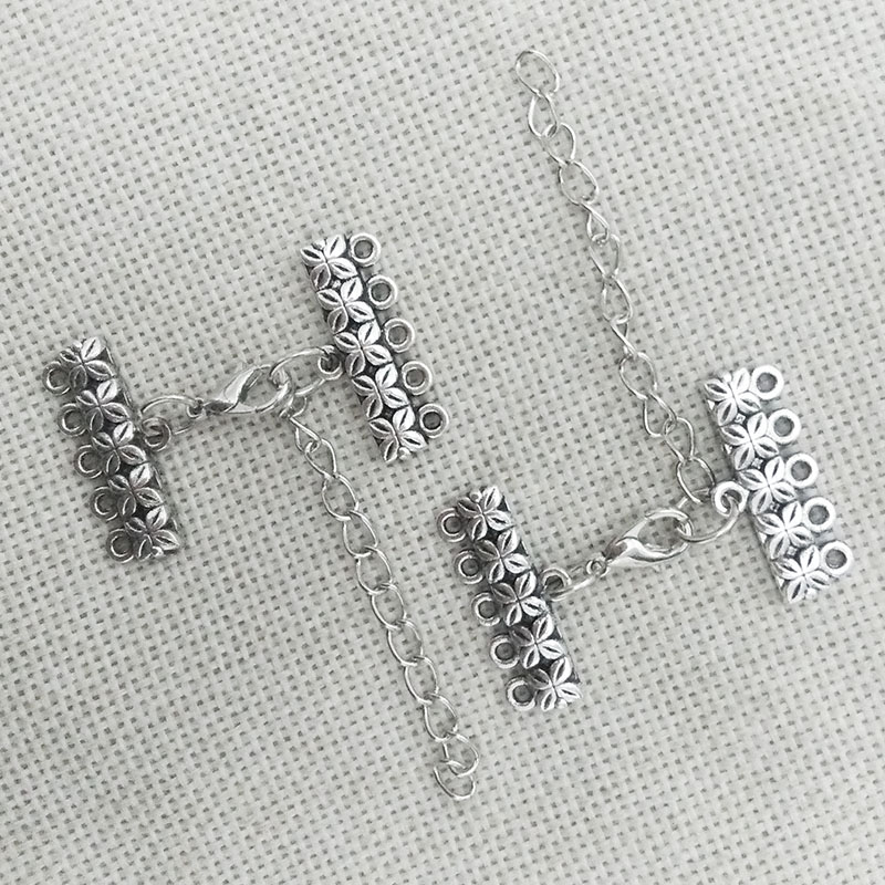 necklace connector charms end beads pendants bails lobster clasp extension chain jump rings 5 strands toggle bracelet multilayer