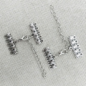 necklace connector charms end beads pendants bails lobster clasp extension chain jump rings 5 strands toggle bracelet multilayer(China)