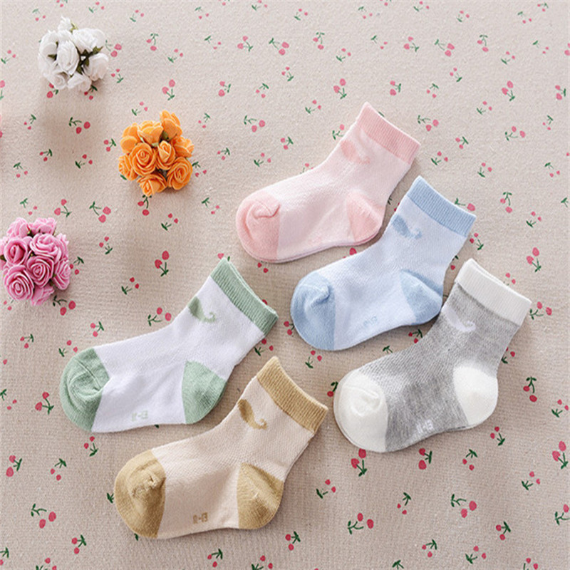 Boys Socks Hot Sale Top Fashion Socks 5pairs/lot 2016 Summer Childrens Cotton Baby Fishnet Spring Paragraph Beard A-cll-018-5