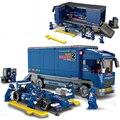 Kits de construcción de edificio 641 unids F1 Formula Racing car city camión montaje de juguetes para niños juguetes educativos