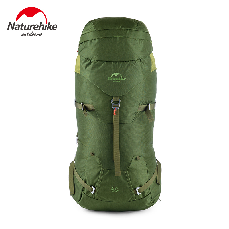 ФОТО 45L Nylon Fabrics Outdoor Bag Aluminum Bar Support Internal Frame Unisex Overnight Climbing Backpack for Travel Hiking Camping