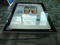 A3 single side super slim light box wall mounted aluminium frame poster magnetic led light box display board