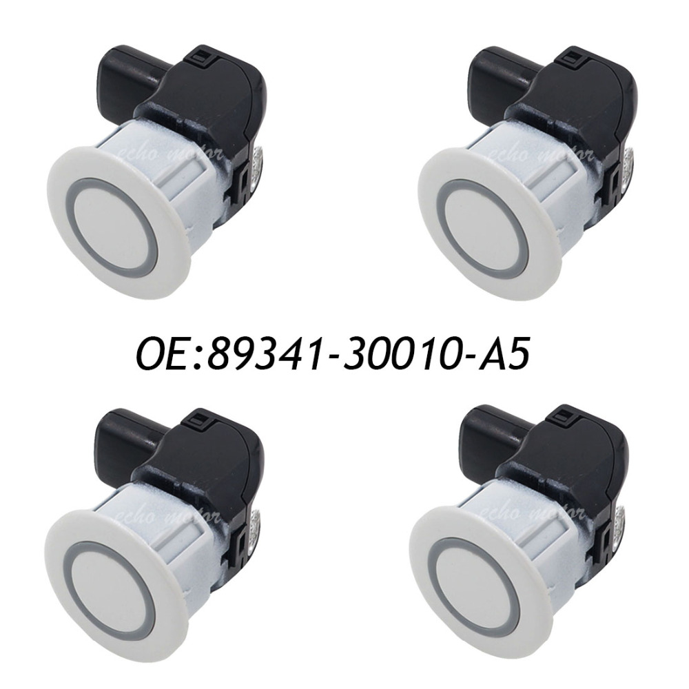 New 4pcs 89341-30010-A5 8934130010A5 PDC Parking Ultrasonic Sensor For LEXUS S250 GS300,GS350,GS430 цена 2017