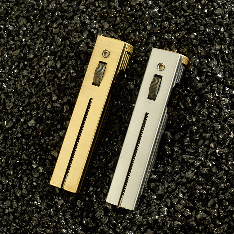 Outdoor Gasoline Lighter Trenches Gas Pure Copper Cigarette Petrol Flint Lighter Free Fire Inflated Kerosene