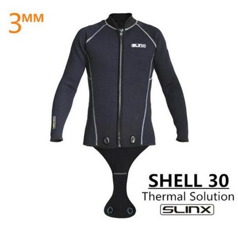 SLINX hommes combinaison de plongée 3mm combinaison de plongée Top veste de bain à manches longues pour la plongée en apnée chasse sous-marine cerf-volant garder au chaud