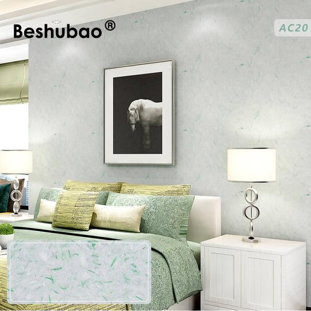 Beshubao Woonkamer Zijden Gips Klassieke Muur Coating DIY Pure Kleur ...