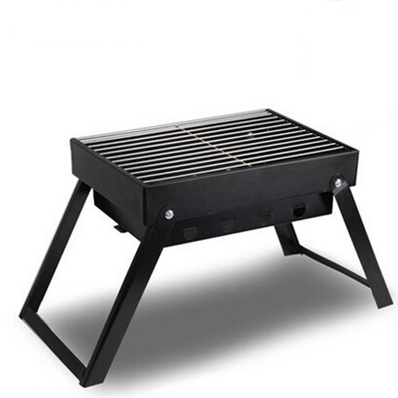 Portable Stainless Steel Bbq Grill Folding Bbq Grill Mini Pocket Bbq Grill Barbecue Accessories For Home Park straight leg destroyed biker jeans