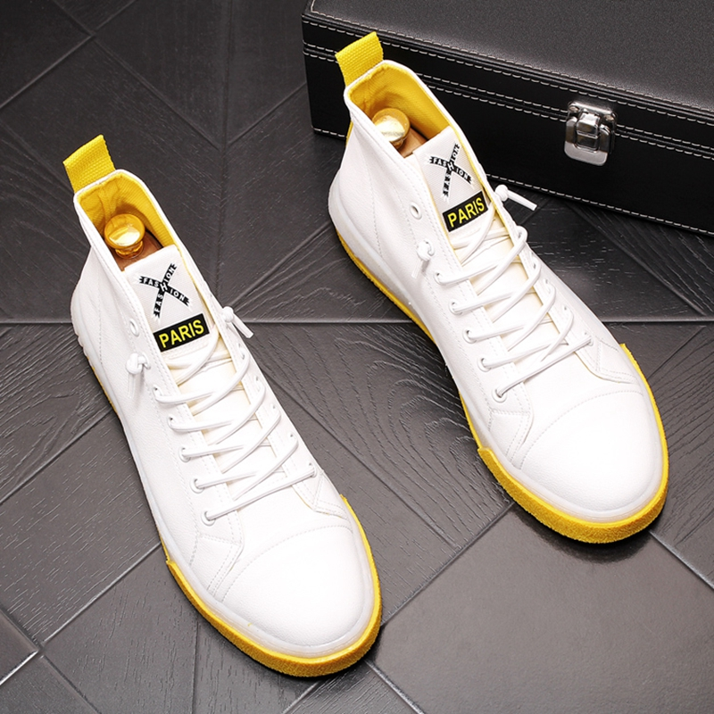 Stephoes 새로운 도착 남자 패션 캐주얼 신발 여름 에어 메쉬 높은 상위 캔버스 신발 남성 통기성 청소년 동향 스 니 커 즈-에서남성용 캐주얼 신발부터 신발 의  그룹 2
