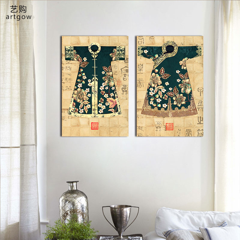 2pcs/set Chinese Art ancient lady clothes decoration wall art ...
