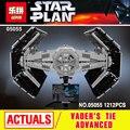 Lepin 05055 Star Series Guerra A Rogue One USC Vader EMPATE Avançado Conjunto Lutador 10175 Blocos de Construção de Tijolos Brinquedos Educativos