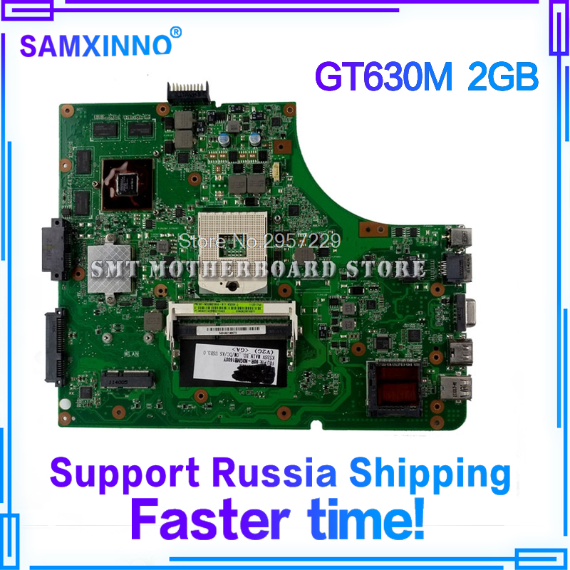 K53SM Motherboard GT630M REV3,2 RAM For ASUS K53S A53S X53S K53SV laptop Motherboard K53SV Mainboard K53SV Motherboard 100%OK free shipping 7 15 mm ptfe magnetic stirrer mixer stir bar with pivot ring white color