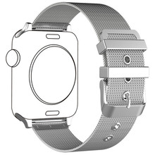 Silver Milanese Loop Watch Strap for Apple Watch 42mm 38mm Band iWatch 3 2 1 Metal Buckle Replacement Bracelet Strap Wristband