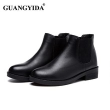 New 2016 Fashion Dr Ma Women Winter Boots Snow boots Genuine Leather Martin boots Women Brand Ankle Boots 253