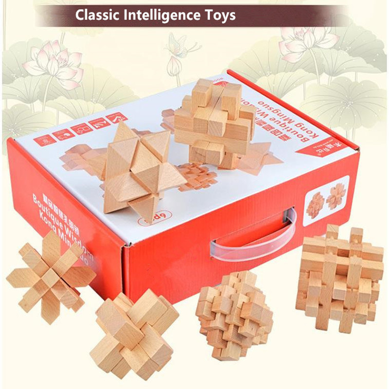 Chinese classical puzzle games Montessori education Magic props, unlock toys Children's toys Decompression and decryption