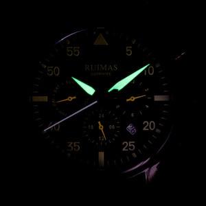 Image 5 - RUIMAS Men Fashion Genuine Leather Strap Watch Automatic Business Mechanical Watches Male Clock Wristwatches Erkek Kol Saati