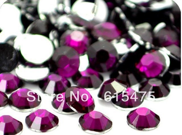 5mm Fuchsia Color SS20 crystal Resin rhinestones flatback,Free Shipping 30,000pcs/bag