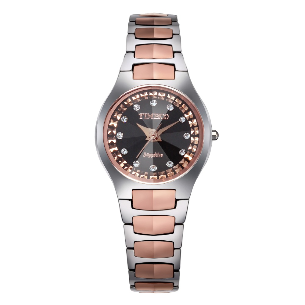 где купить TIME100 Women's Quartz Watch Diamond Dial Tungsten steel Strap Waterproof Ladies Quartz Wrist Watch For Women relogio feminino по лучшей цене