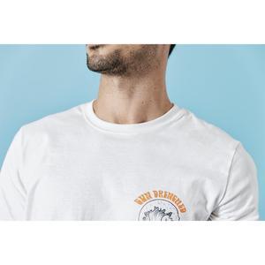 Image 3 - SIMWOOD 2020 sommer neue urlaub t hemd männer kausal strand 100% baumwolle t shirt Meer welle druck dünne mode tops 190305