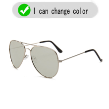 Intelligent color-changing polarized glasses day night men's photosensitive colo