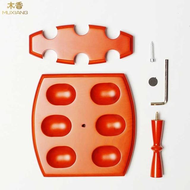 موكسيانج خشب الزان اللون البرتقالي 6 مقعد الأنابيب رفوف عمودي نوع التدخين الأنابيب المتخصصة الواقف جيد المذكر هدية fa0072