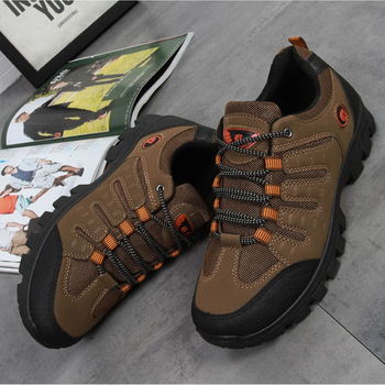 Autumn Winter Outdoor Men Sneakers Plus Velvet Hiking Shoes Travel Shoes Male Cotton Shoes Solid Rubber Cross-country Walking