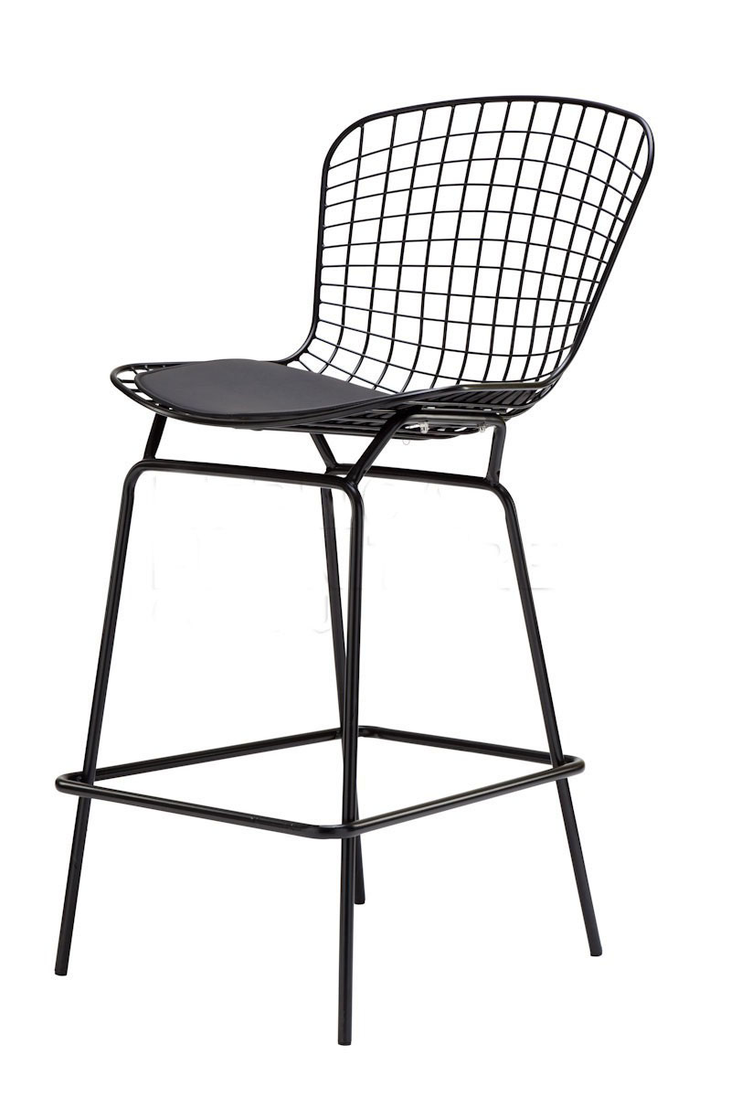 Modern Design Chromed Or Black Bertoia Bar Stool Barstool Chair Metal Wire Counter Seat Height 64cm 1pc In Chairs From Furniture On