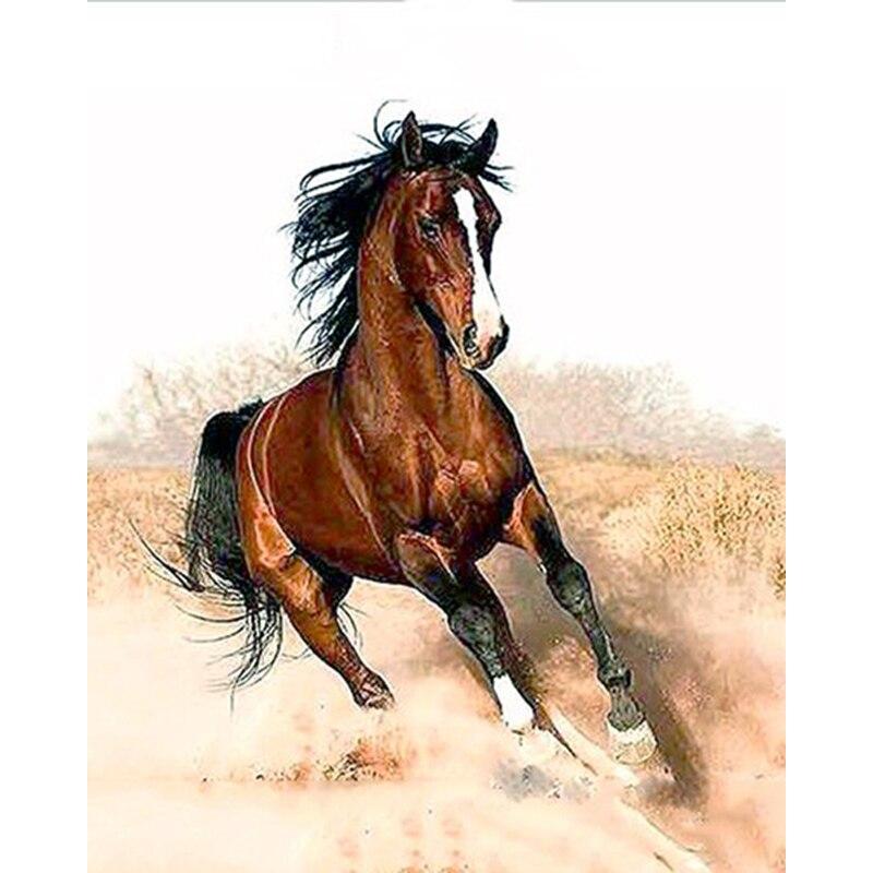 ArtSailing фотографии по номерам на холсте работает лошадь животных современные украшения картины на холсте плакат с рамкой NP-353