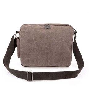Image 4 - High Quality Multifunction Canvas Bag travel bag men messenger bag brand mens crossbody bag luxury vintage style briefcase w304