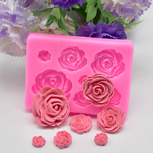 Dropshipping Rose Flower Silicone Mold Fondant Mold Cake Dec