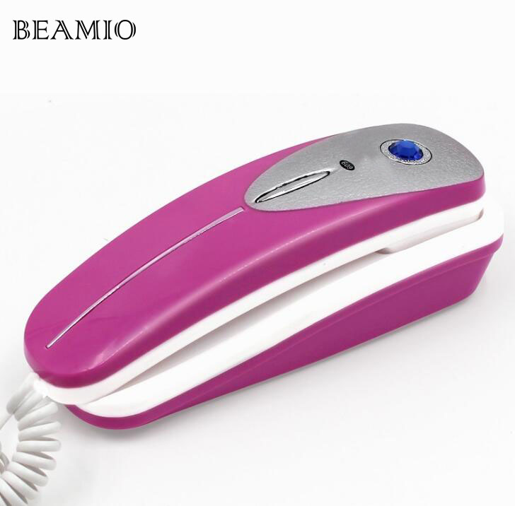 Wall Fixed Phone With Redail Mute Pause Landline Extension Telephone Small For Home Business Office Hotel Bathroom Blue