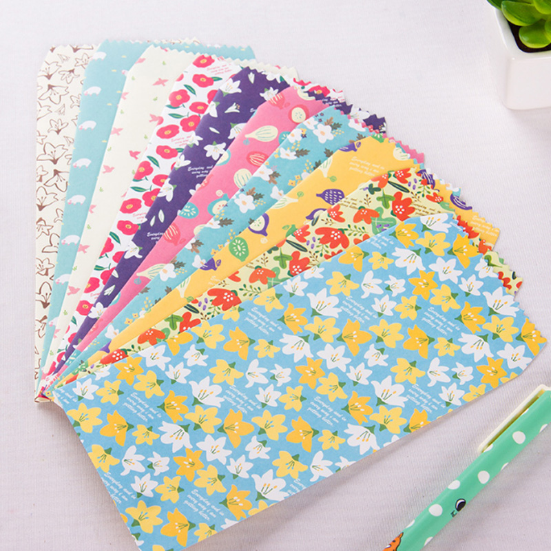 5X Cute Beautiful Flowers Envelopes Letterhead Office Writing Paper Stationery Kawaii Birthday Christmas Card Envelopes Gift