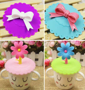 Silicone Cute Anti-dust Cup Cover Coffee Suction Seal Lid Cap