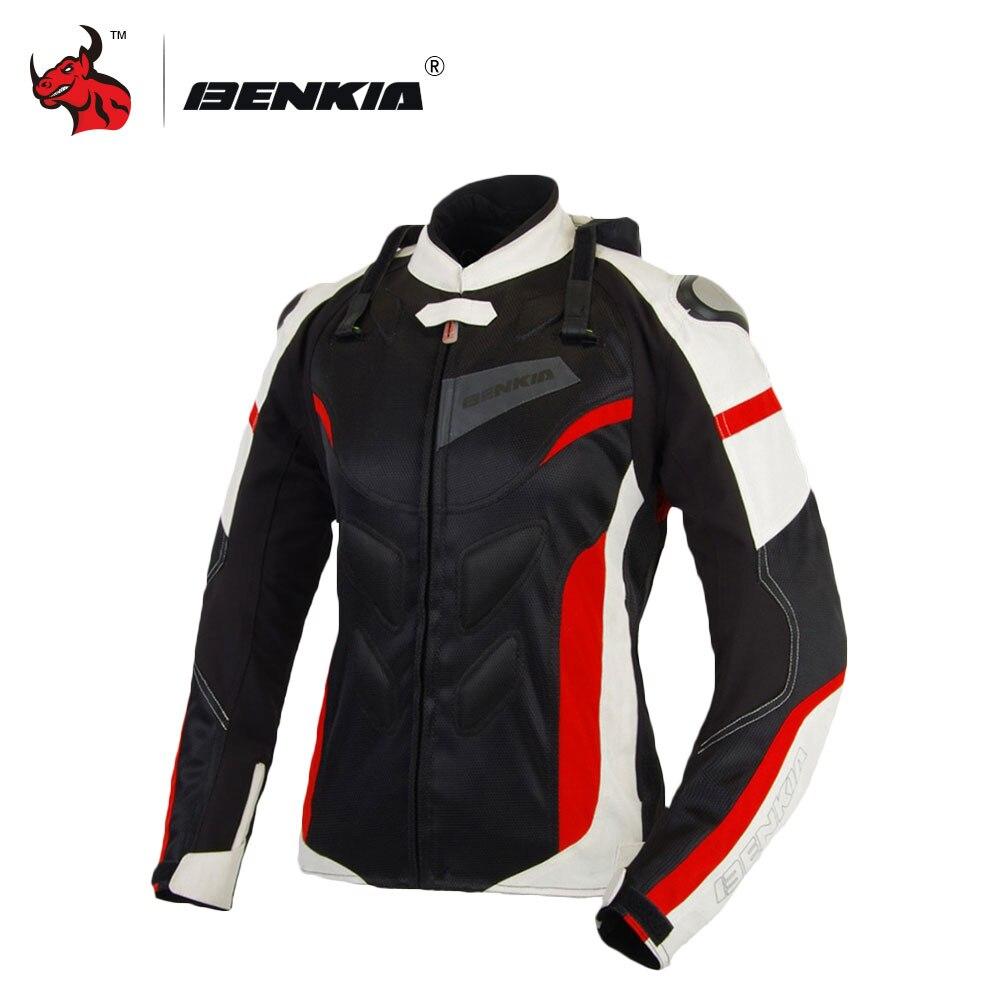 BENKIA Revestimento Da Motocicleta Jaquetas de Corrida De Moto Respirável Mulheres Jaqueta De Proteção Motocross Jersey Moto Moto Femme Blouson